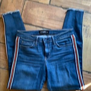 Just Black Jeans - Skinny Jeans with Racing Stripe 27